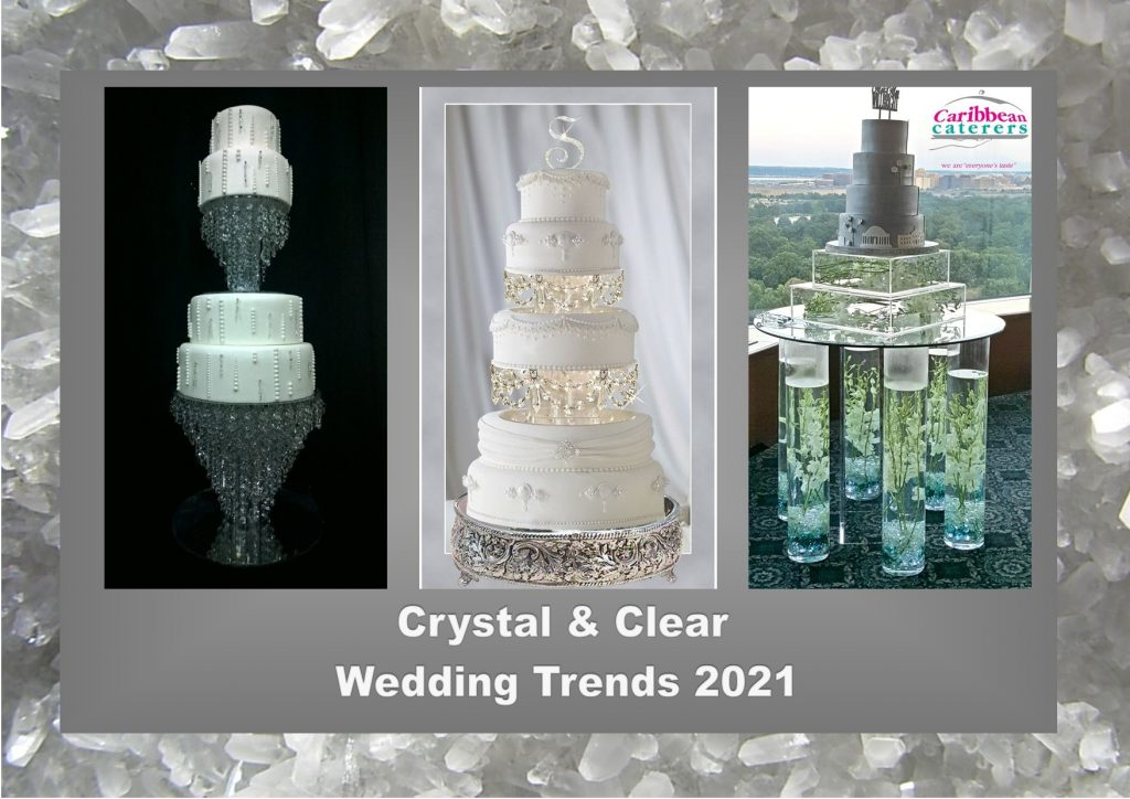 Crystal and clear wedding