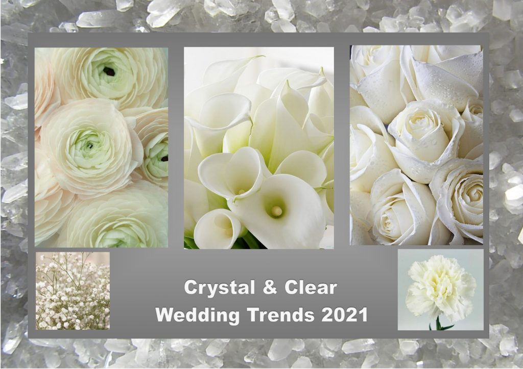 Crystal and clear flowers